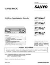 Buy Sanyo Service Manual For SRT-8040P Manual by download #176033
