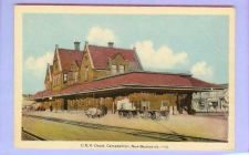 Buy CAN Campbellton New Brunswick CR Depot View From Tracks Brick Depot w/Lugg~121