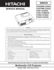 Buy HITACHI PJ550 2 PJ551 SM 0525E Manual by download Mauritron #186215