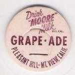 Buy CA Pleasant Hill Milk Bottle Cap Name/Subject: Moore Milk Grape-Ade~191