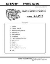 Buy Sharp 534 AJ-6020 PARTS Manual by download #178606