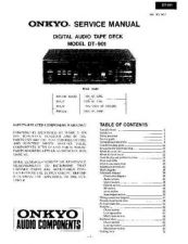 Buy ONKYO DT901SM Service Manual by download Mauritron #193398