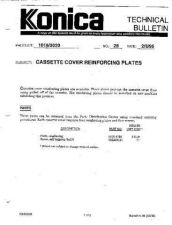 Buy Konica 28 CASSETTE REINFORCING PLA Service Schematics by download #136078