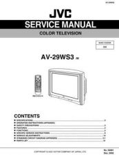 Buy JVC AV-29WS3 Service Manual by download Mauritron #192541