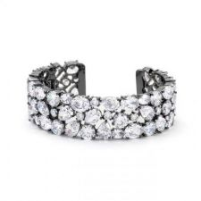 Buy Bejeweled Cz Cuff Black Tone