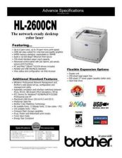 Buy Brother SPEC HL2600CN Service Schematics by download #134884
