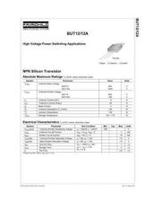 Buy Semiconductor Data BUT12 by download Mauritron #195350
