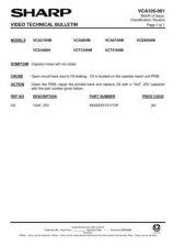 Buy Sharp VCT310HM-001 Service Schematics by download #159354