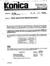 Buy Konica 08 SD301 MOUNTING REPAIR BR Service Schematics by download #135918