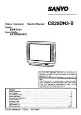 Buy Sanyo CE25DN3-B-01 SM-Only Manual by download #173022