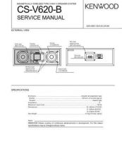 Buy KENWOOD CS-V620 Service Data by download #132700