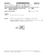 Buy Sony HCD-H771 High Wow & Flutter Counter Measure (HFP0527) Service Schematics by