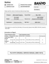 Buy Sanyo PLC-XT16-01 Manual by download #174977