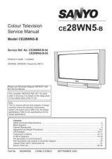 Buy Sanyo CE28WN5-B-04-05 SM Manual by download #173201
