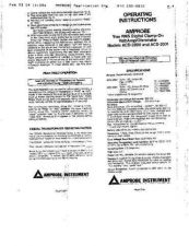 Buy Amprobe ACD30PQ User Instructions Operating Guide by download Mauritron #194167