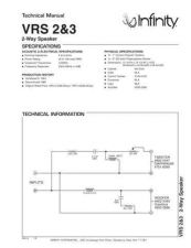 Buy INFINITY VRS3 TS Service Manual by download #148006