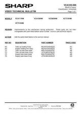 Buy Sharp VCH81HM-003 Service Schematics by download #158572