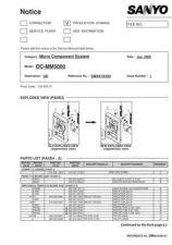 Buy Sanyo Service Manual For DC-DAV821-01 Manual by download #175622