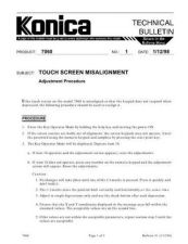 Buy Konica 01 TOUCH SCREEN MISALIGNMEN Service Schematics by download #135789