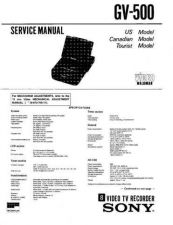 Buy SONY GV-500 Service Manual by download #166899
