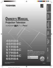 Buy TOSHIBA 65H84 OM E OPERATING GUIDE by download #129421