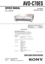 Buy SONY AVD-C70ES Service Manual by download #166271