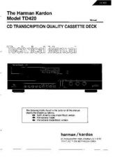 Buy INFINITY TD420 SM Service Manual by download #151598