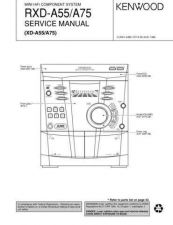 Buy KENWOOD RXD-A55 A75 Service Schematics by download #131645