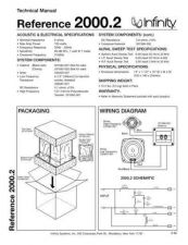 Buy INFINITY REFERENCE 2000-2 TS Service Manual by download #151374