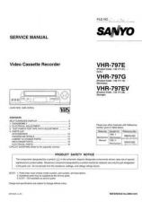 Buy Sanyo Service Manual For VHR-797E Manual by download #176207