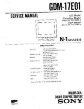 Buy SONY GDM-17E01 Service Manual by download #166859