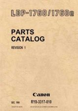 Buy CANON LBP-1760 PARTS MANUAL by download #150182