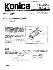 Buy Konica 02 PAPER FEED ROLLER Service Schematics by download #135813