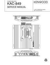 Buy KENWOOD KAC-849 Technical Info by download #148124