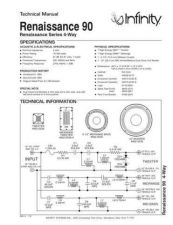 Buy INFINITY RENAISSANCE 90 (BLACK LAQUER) TS Service Manual by download #151386