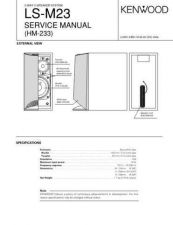 Buy KENWOOD LS-M23 Technical Info by download #148274