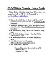 Buy DAEWOO DSC30W60N CHASSIS CHANGE PROCEDURE Manual by download #183971