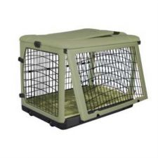 Buy Pet Gear Deluxe Steel Dog Crate with Bolster Pad Carry Bag Medium Sage