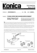 Buy Konica 07A FUSING DRIVE MECHANISM IMPROVEMENT Service Schematics by download #13