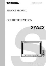 Buy TOSHIBA 27A42 SVCMAN ON by download #129182