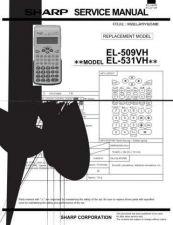 Buy Sharp 294 EL509VH Manual by download #178165