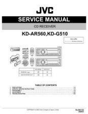 Buy JVC KD-G510 - AR560 TECHNICAL DATA by download #131130