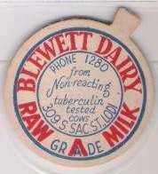 Buy CA Lodi Milk Bottle Cap Name/Subject: Blewett Dairy Raw Grade A Milk~20