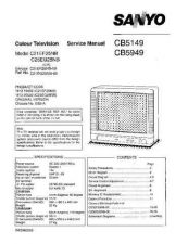 Buy Sanyo Service Manual For 28XP1-01 Manual by download #175541