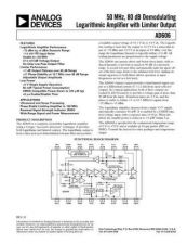 Buy INTEGRATED CIRCUIT DATA AD606J Manual by download Mauritron #186284