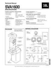 Buy INFINITY SVA1600 TS Service Manual by download #151570