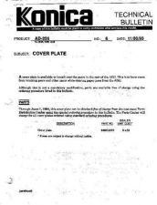 Buy Konica 06 COVER PLATE Service Schematics by download #135881