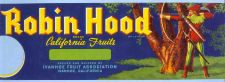 Buy CA Ivanhoe Fruit Crate Label Robin Hood Brand California Fruits Packed and~30