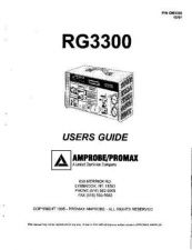 Buy Amprobe RG3300 Operating Guide User Instructions by download Mauritron #194493