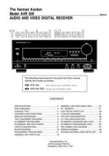 Buy Harman Kardon AVR500PRELIM SM Manual by download Mauritron #185602